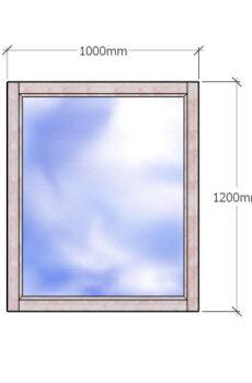Одностворчатое деревянное окно с двухкамерным стеклопакетом