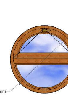 Круглое окно диаметр 1м