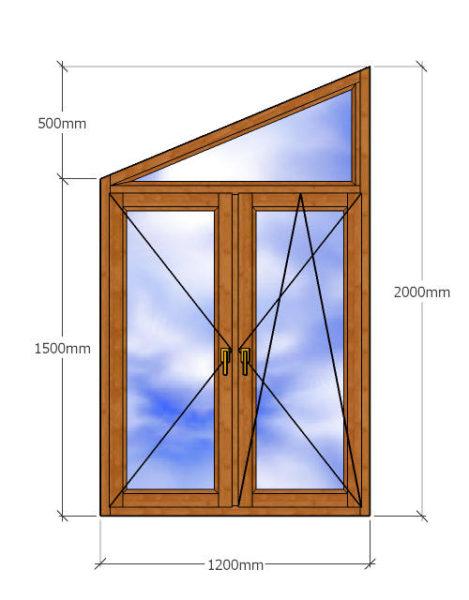 Деревянное окно трапеция